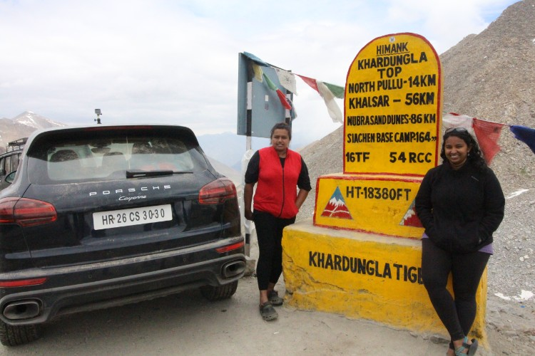 At Khardungla top - on the world_s highest motorable road